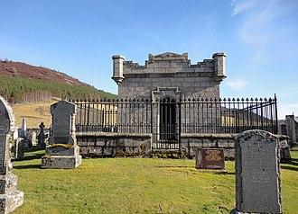 Clan Farquharson - Farquharson mausoleum in Braemar Kirkyard near Braemar Castle