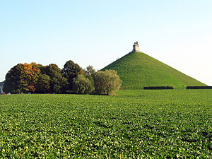 Wallonia - The Lion's Mound commemorates the Battle of Waterloo, fought in present-day Wallonia. Belgium was united with the Netherlands following the Napoleonic Wars.