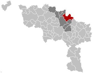 Braine-le-Comte - Image: Braine le Comte Hainaut Belgium Map