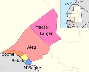 Brakna Region - Departments of Brakna