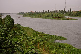 Mongol invasion of Java - 21st century view of Brantas river in Kediri.