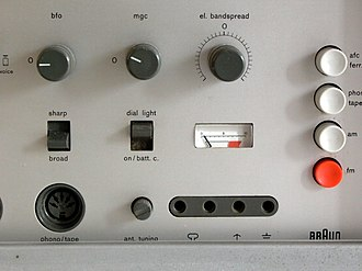 Hardware interface design - Dieter Rams, and by extension Braun, produced minimal yet tactile hardware interfaces for a variety of products such as this Braun T1000CD.