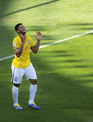 Hulk (footballer) - Hulk playing for Brazil at the 2014 FIFA World Cup.
