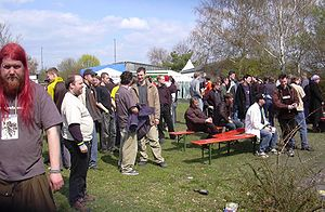 Breakpoint (demoparty) - Image: Breakpoint 2004 Party Outside