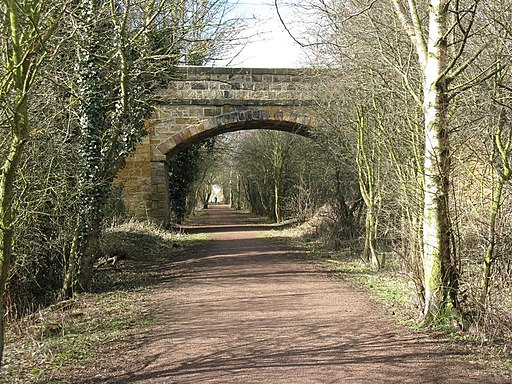 Bridge across the Haddington-Longniddry Railway Walk - geograph.org.uk - 1773687