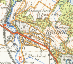 Bridge of Allan - A map of Bridge of Allan from 1945