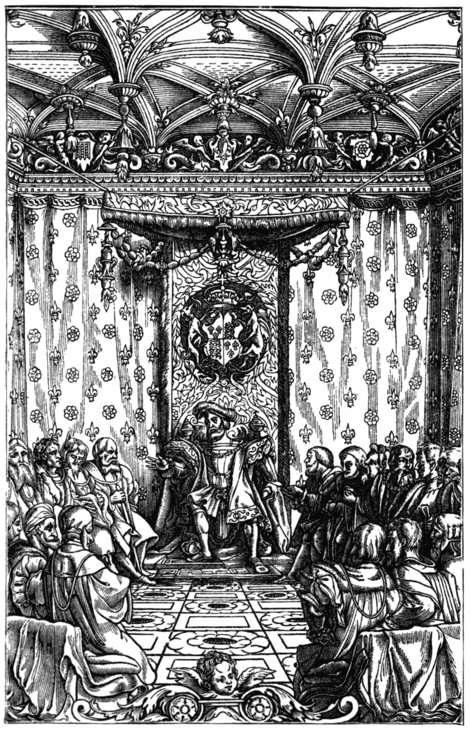 HENRY VIII. IN COUNCIL (From Holinshed's 'Chronicles of England,' 1577)