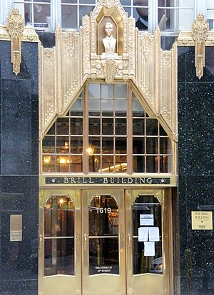 Don't Let Me Wait Too Long - Entrance to the Brill Building, in New York