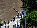 Brisbane River Town Reach Riverwalk in flood from Story Bridge Fortitude Valley P1090895.jpg
