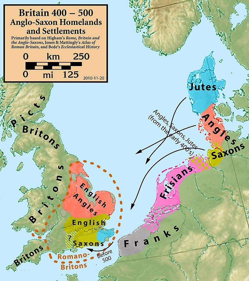 Migraciones desde Jutland hacia la romana Britannia