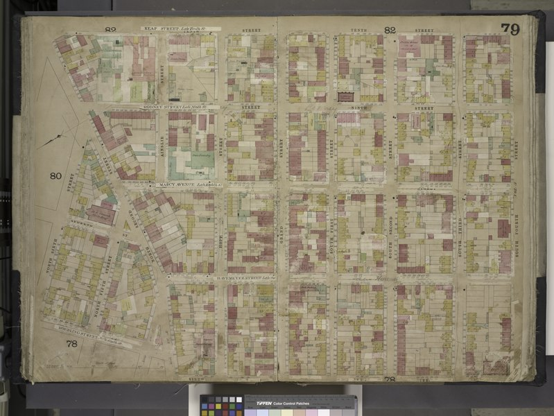 File:Brooklyn, Vol. 4, Double Page Plate No. 79; (Map bounded by Keap St. late 10th St., South 4th St., South 3rd St., South 2nd St., South 1st St., Grand St., Hope St; Including North 2nd St., North 6th NYPL1695446.tiff