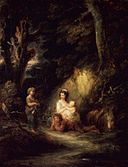 Brooklyn Museum - Halt of Traveling Peasants by a Woodside - Gainsborough Dupont.jpg