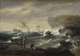 Thomas Birch (artist) - Image: Brooklyn Museum Shipwreck Thomas Birch overall