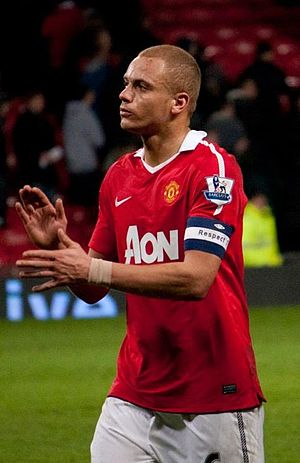 Wes Brown - Brown playing for Manchester United in 2011