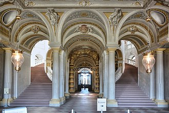 1731 in architecture - Image: Bruchsal Schloss Treppe 1