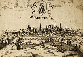 Brussels - A view of Brussels circa 1610
