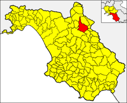 Buccino within the Province of Salerno