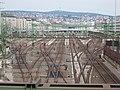 Budapest Southern Railway Station. Without trains. From Márvány Street's bridge.JPG