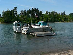Course of the Willamette River - The Buena Vista Ferry at Buena Vista