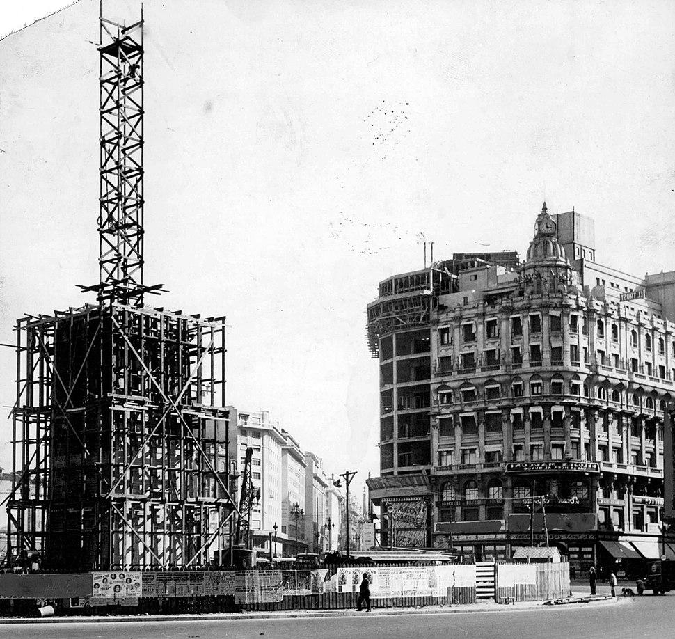 Buenos Aires - San Nicolás - Construcción del Obelisco