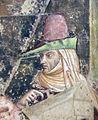 Buffalmacco, trionfo della morte, incontro dei tre vivi coi tre morti 18 gentildonna.jpg