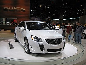 Buick Regal GS at Chicago Auto Show 2010.