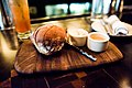 Bun with sauces in pub.jpg