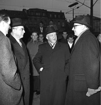 Hans Globke - Globke and Bishop Aloisius Joseph Muench, nuncio to post-war West Germany.