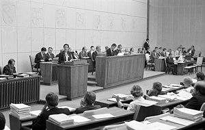 Heide Simonis spricht im Bundesrat, 1989