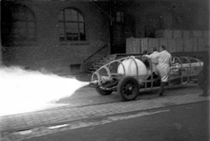 Arthur Rudolph - Rocket vehicle on dynamometer at Heylandt