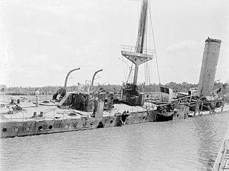Battle of Rufiji Delta - Wreck of Königsberg