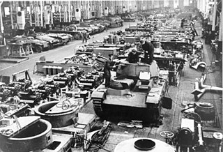 German armored fighting vehicle production during World War II