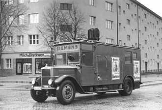 Siemens - A Siemens truck being used as a Nazi public address vehicle in 1932
