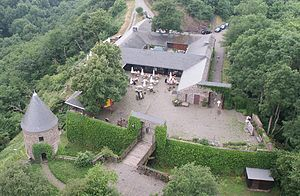 Outer bailey - The outer bailey of Pyrmont Castle (Germany).