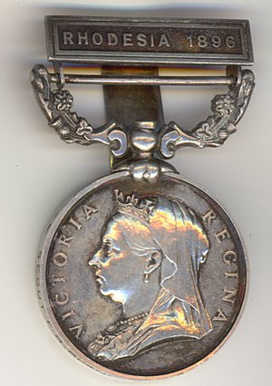 British South Africa Company Medal - Image: Burnhams bsac medal