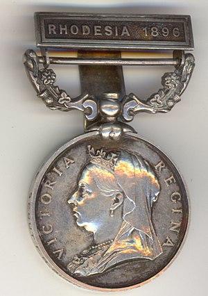 British South Africa Company Medal - Image: Burnhams bsac medal