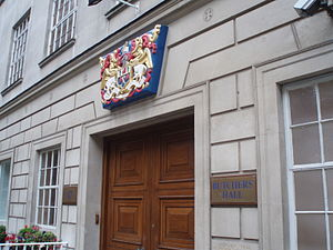 Worshipful Company of Butchers - Entrance to Hall