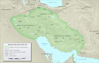 Buyid dynasty - The Buyid dynasty in 970