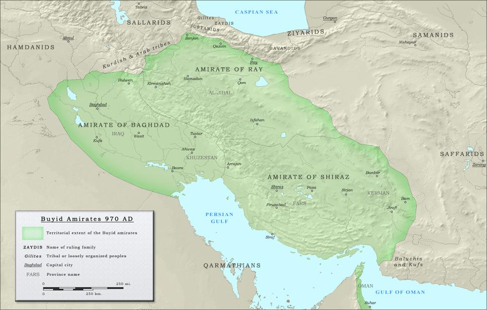 The Buyid dynasty in 970