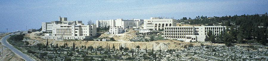 תמונה פנורמית של קמפוס האוניברסיטה (1997)