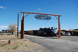 Cumbres and Toltec Scenic Railroad - Image: C&TS Antonito Entrance 2012 10 23