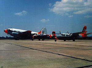 Redstone Army Airfield - US Army aircraft at Redstone Army Airfield in the 1950s.