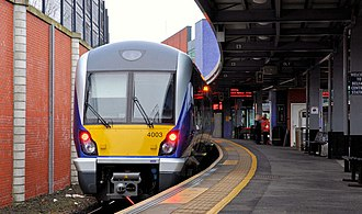 NIR Class 4000 - Class 4000 (4003) train at Belfast Lanyon Place (formerly Belfast Central)