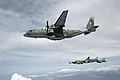 CASA C-295, Aero L-139 and Saab JAS-39 Gripen of the Czech Air Force inflight.jpg