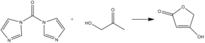 Carbonyldiimidazole - Tetronic acid formation