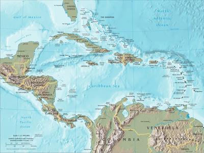 Všechny ostrovy v Karibském moři