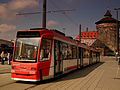 CITY LINE TRAM NUREMBERG HAUPT BANHOF GERMANY APRIL 2012 (7093009405).jpg