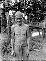 COLLECTIE TROPENMUSEUM Dajakhoofd uit de Lepomo Onderaf Boelangan Noordoost-Borneo TMnr 10001602.jpg