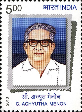 C. Achutha Menon - Menon on a 2013 stamp of India