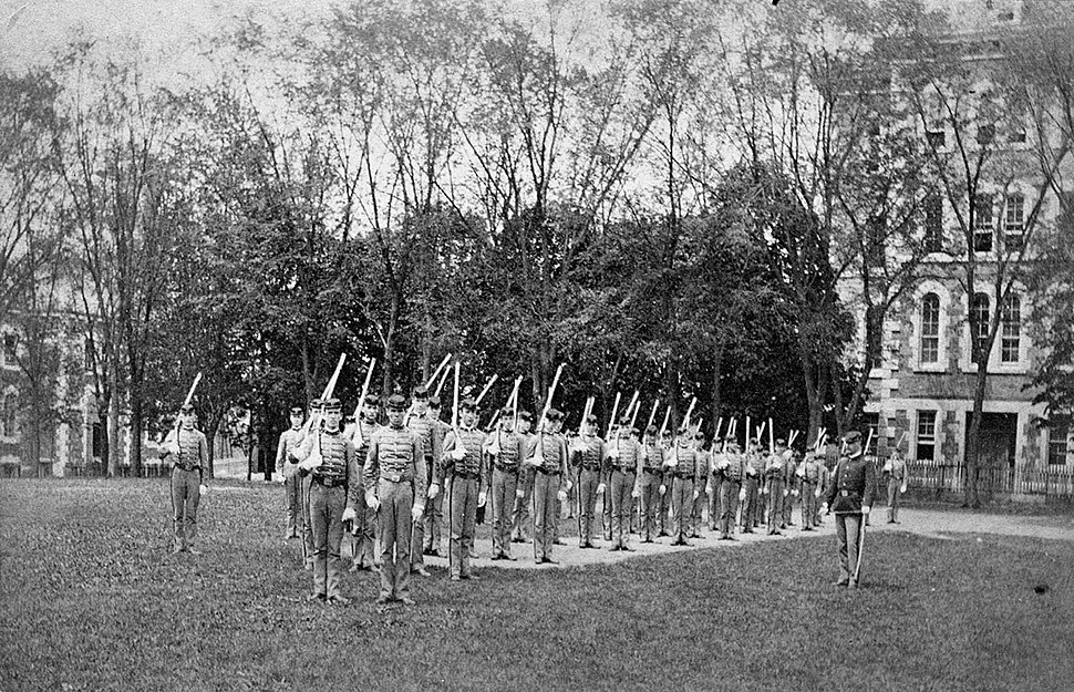 Cadets with Lt. Squiers April 1886 Fordham